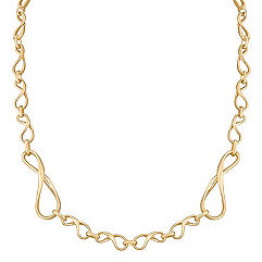 Infinity Link Necklace in 14k Yellow Gold (18)