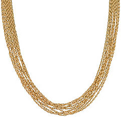 Yellow Sterling Silver Chain Necklace (18 in.)