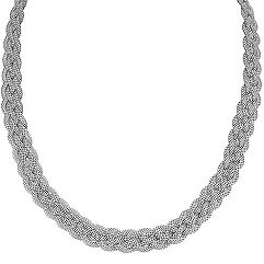 Sterling Silver Braided Necklace (18)