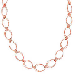 Rose Sterling Silver Link Necklace (18 in.)