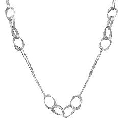 Sterling Silver Circle Necklace (32 in.)