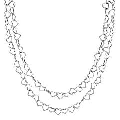 Sterling Silver Heart Link Necklace (47)