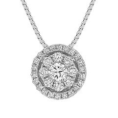 Diamond Cluster Circle Pendant (18 in.)