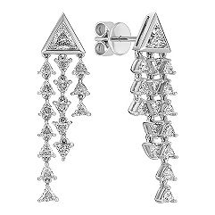 Trillion Diamond Earrings