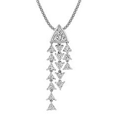 Trillion Diamond Pendant (22 in.)