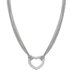 Engravable Sterling Silver Heart Necklace (18 in.)