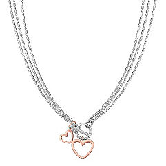 Sterling Silver Double Heart Pendant (18)