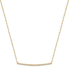 Contemporary Diamond Bar Necklace (18 in.)