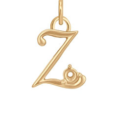 14k Yellow Gold Letter Z Charm