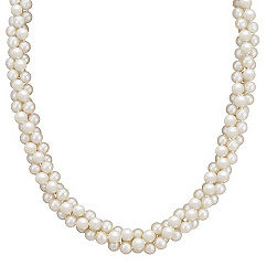 5.5mm Cultured Freshwater Pearl Three Strand Necklace (19)