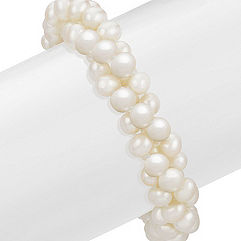 5.5mm Cultured Freshwater Pearl Three Strand Bracelet (8.5)
