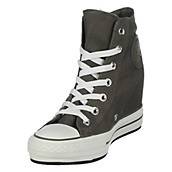 70006d684904 Converse Charcoal Women s Hidden Wedge Sneaker Chuck Taylor Hi