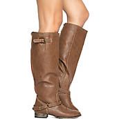 4345abaff58 Shiekh Dark Tan Red Zipper Women s Knee-High Boot Outlaw-81