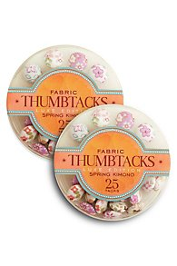 Fabric Thumbtack Set