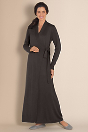 Women's Silk Cashmere Robe - GRAPHITE