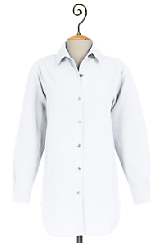 Women's Tall Classic Cotton Gauze Big Shirt - White
