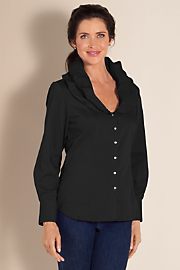 Women's Elizabeth Blouse - BLACK