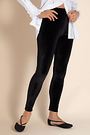 Stretch Velvet Legging - Black
