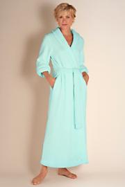 Women's Classic Chenille Robe - BLUE LAGOON