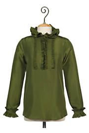 Rock Star Silk Shirt - Green