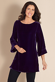Silk Velvet Tunic II - Purple