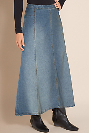 Women's Dakota Denim Skirt - DENIM