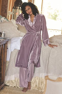 Silk Velvet Short Robe