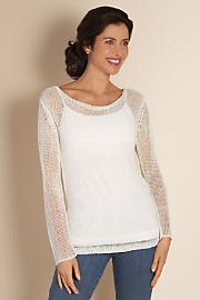 Women's Seaside Sweater I - WHITE