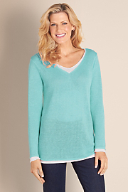 Women's Take It Easy Sweater - AQUA