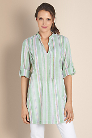 Women's Ibiza Gauze Tunic - LIME