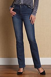 Women's Classic Jeans - SANDWSHED DENIM