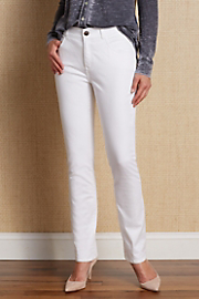 Women's Classic Jeans - WHITE