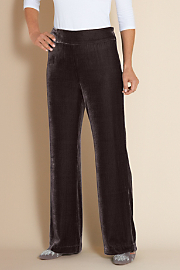 Women's Silk Velvet Pant II - FIG