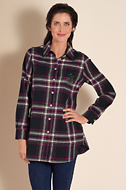 Women's Fab Flannel Shirt - BLACK