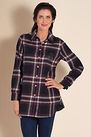 Women's Fab Flannel Shirt - BLACK