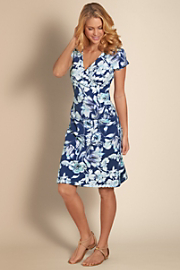 Women's Shapely Anywhere Dress - BLUE INDIGO