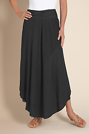Women's Double Layer Gauze Skirt - BLACK
