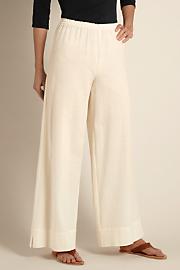 Women Beachy Gauze Pants - NATURAL