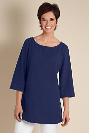 Women's Great Gauze Tunic I - PATRIOT BLUE