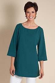 Women's Great Gauze Tunic I - DARK TEAL
