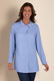 Women's Jacqueline Shirt I - BLUEBERRY MIST