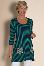 Women's Bon Voyage Tunic - NAUTICAL NAVY/EMERALD