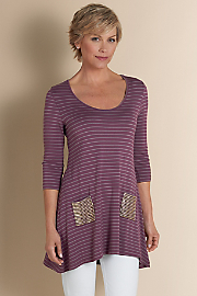 Women's Bon Voyage Tunic - PLUM/ANTIQUE SILVER