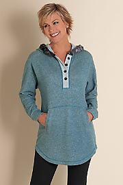 Women's Cabin Cuddle Up - TEAL HEATHER