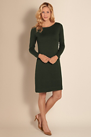 Women's Two-Faced Dress - EVERGREEN
