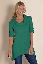 Everywhere Tunic  - LUXE EMERALD