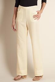 Women's Straight Leg Gauze Pants - NATURAL