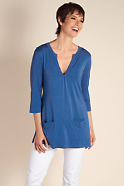 Women's Drapey Lounge Top - COASTAL BLUE