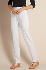 Women's Skinny Stretch Pants - WHITE