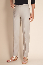 Women's Skinny Stretch Pants - STONE